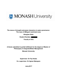 The nexus of drought and power dynamics in water governance: The case of UMngeni catchment area