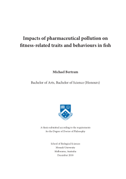 Impacts of pharmaceutical pollution on fitness-related traits and behaviours in fish