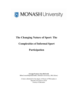 The Changing Nature of Sport: The Complexities of Informal Sport Participation