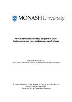 Rheumatic heart disease surgery in adult  Indigenous and non-Indigenous Australians