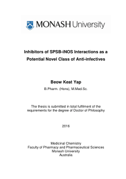 Inhibitors of SPSB-iNOS interactions as a potential novel class of anti-infectives