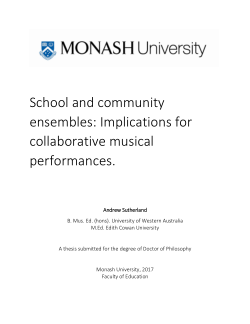 School and community ensembles: Implications for collaborative musical performances