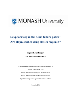 Polypharmacy in the heart failure patient: are all prescribed drug classes required?
