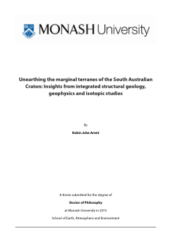 Unearthing the marginal terranes of the South Australian Craton: insights from integrated structural geology, geophysics and isotopic studies