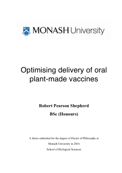 Optimising delivery of oral plant-made vaccines