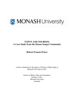 Tápun and tourism: a case study from the Dusun Sungai community