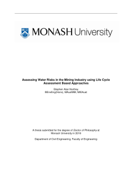 Assessing Water Risks in the Mining Industry using Life Cycle Assessment Based Approaches