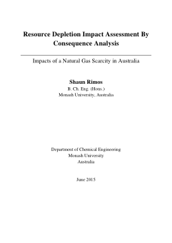 Resource depletion impact assessment by consequence analysis: impacts of a natural gas scarcity in Australia