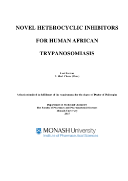 Novel heterocyclic inhibitors for human African trypanosomiasis