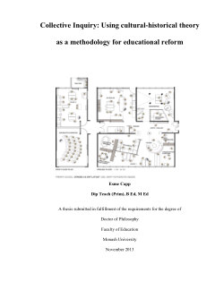 Collective inquiry: using cultural-historical theory as a methodology for educational reform
