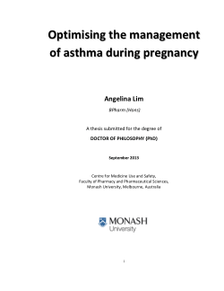 Optimising the management of asthma during pregnancy