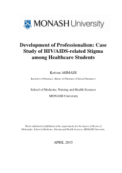 Development of professionalism : case study of HIV/AIDS-related stigma among healthcare students