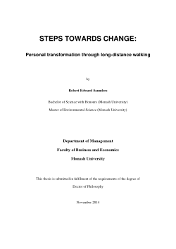 Steps towards change: personal transformation through long-distance walking