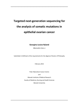 Targeted next-generation sequencing for the analysis of somatic mutations in epithelial ovarian cancer