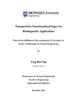 Nanoparticles functionalized paper for biodiagnostic applications
