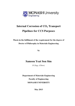 Internal corrosion of CO2 transport pipelines for CCS purposes