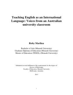 Teaching English as an international language : voices from an Australian university classroom / Roby Marlina
