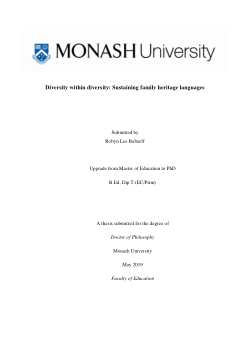 Diversity within diversity: Sustaining family heritage languages