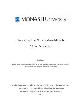 Flamenco and the Music of Manuel de Falla: A Piano Perspective