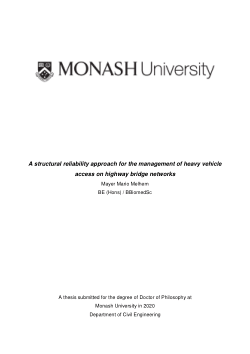 A structural reliability approach for the management of heavy vehicle access on highway bridge networks
