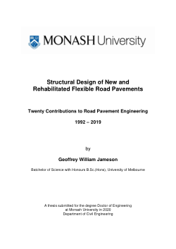 Structural design of new and rehabilitated flexible road pavements: twenty contributions to road pavement engineering 1992-2019