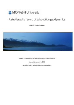 A stratigraphic record of subduction geodynamics
