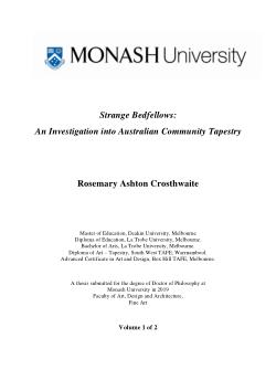 Strange Bedfellows - An Investigation into Australian Community Tapestry