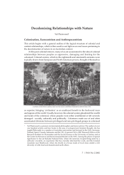 Decolonising relationships with nature