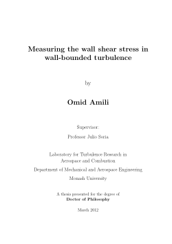 Measuring the wall shear stress in wall-bounded turbulence / by Omid Amili
