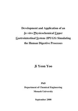 Development and application of an in vitro physicochemical upper gastrointestinal system (IPUGS) simulating the human digestive processes