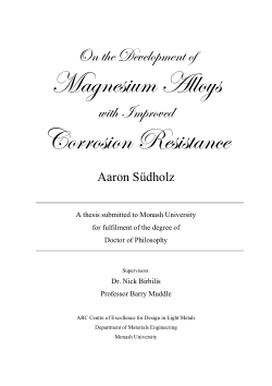 On the development of magnesium alloys with improved corrosion resistance