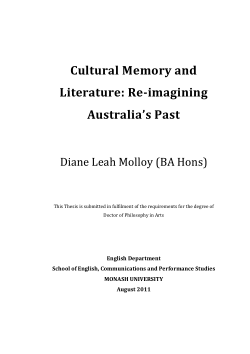 Cultural memory and literature : re-imagining Australia's past / Diane Leah Molloy