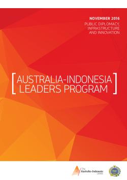 Brochure: Australia-Indonesia Leaders Program November 2016