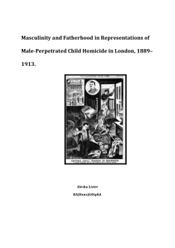 Masculinity and fatherhood in representations of male-perpetrated child homicide in London, 1889–1913