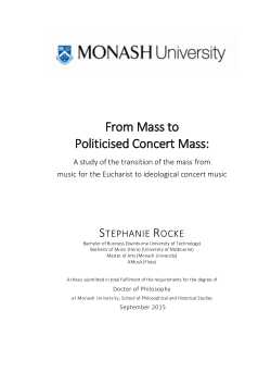From mass to politicised concert mass: a study of the transition of the mass from music for the Eucharist to ideological concert music