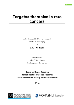 Targeted therapies in rare cancers