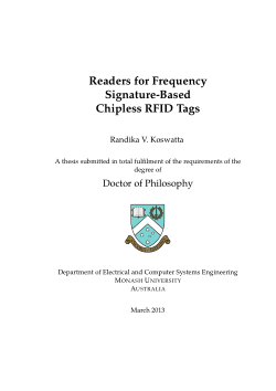Readers for frequency signature-based chipless RFID tags