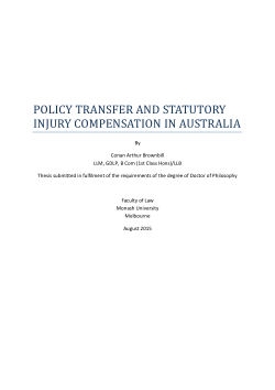 Policy transfer and statutory injury compensation in Australia