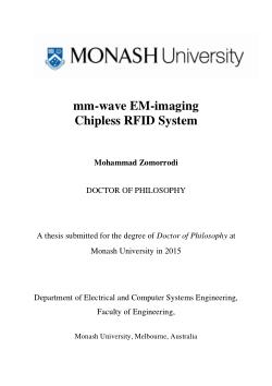 mm-wave EM-imaging chipless RFID system