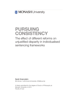 Pursuing consistency: the effect of different reforms on unjustified disparity in individualised sentencing frameworks