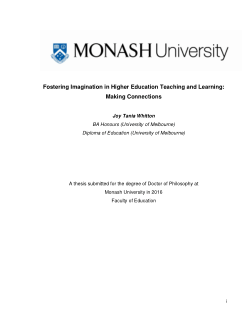 Fostering imagination in higher education teaching and learning: making connections