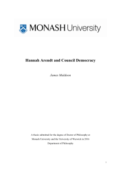 Hannah Arendt and council democracy