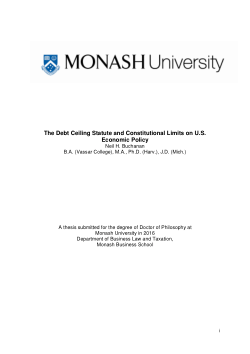 The Debt Ceiling Statute and Constitutional Limits on U.S. Economic Policy