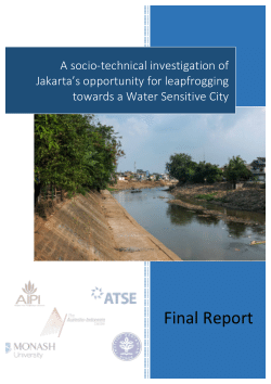 A socio-technical investigation of Jakarta's opportunity for leapfrogging towards a Water Sensitive City