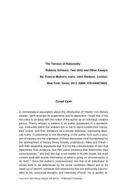 The Tension of Rationality: Roberto Schwarz, Two Girls and Other Essays. Ed. Francis Mulhern, trans. John Gledson. London; New York: Verso, 2013. [Review article]