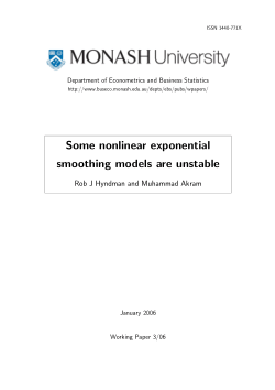 Some nonlinear exponential smoothing models are unstable