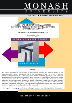 Cubism and Organizational Analysis: Revisiting Representation in the Age of the Knowledge Economy