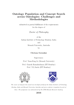 Ontology Population and Concept Search across Ontologies: Challenges and Methodologies