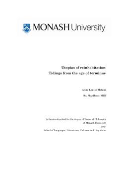 Utopias of reinhabitation: Tidings from the age of terminus