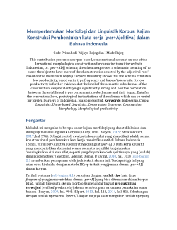 Buku Morfologi Bahasa Indonesia Pdf